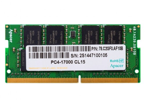 .8GB DDR4- 2400MHz  SODIMM  Apacer PC19200, CL17,