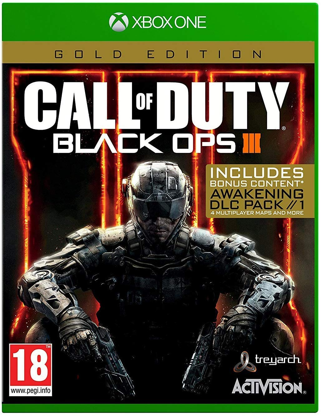 Game For XBOX One CALL of DUTY Black OPSIII Gold E