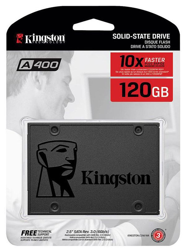 "2.5"" SSD 120GB  Kingston A400, SATAIII, Sequential"
