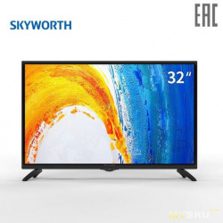 "Телевизор 32"" LED TV SKYWORTH 32W4, Black, 1366x768 (HD), 20"