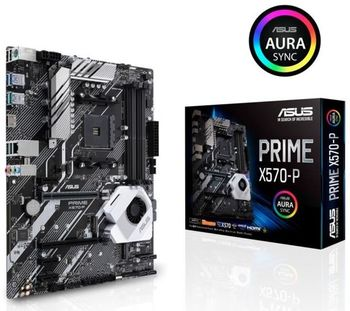 ASUS PRIME X570-P, Socket AM4, 12 Phases, AMD X570, Dual 4xDDR4-4400,