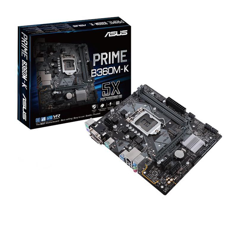 ASUS PRIME B360M-K, Socket 1151, Intel B360 (9th-8th Gen CPU), Dual 2
