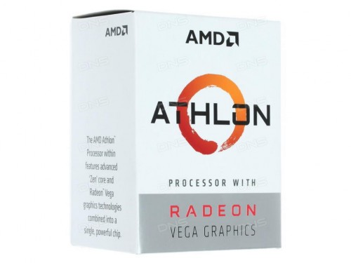AMD Athlon 200GE, Socket AM4, 3.2GHz (2C-4T), 4MB L3, Integrated Radeo