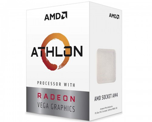 AMD Athlon 3000G, Socket AM4, 3.5GHz (2C-4T)  4MB L3, Integrated Radeo