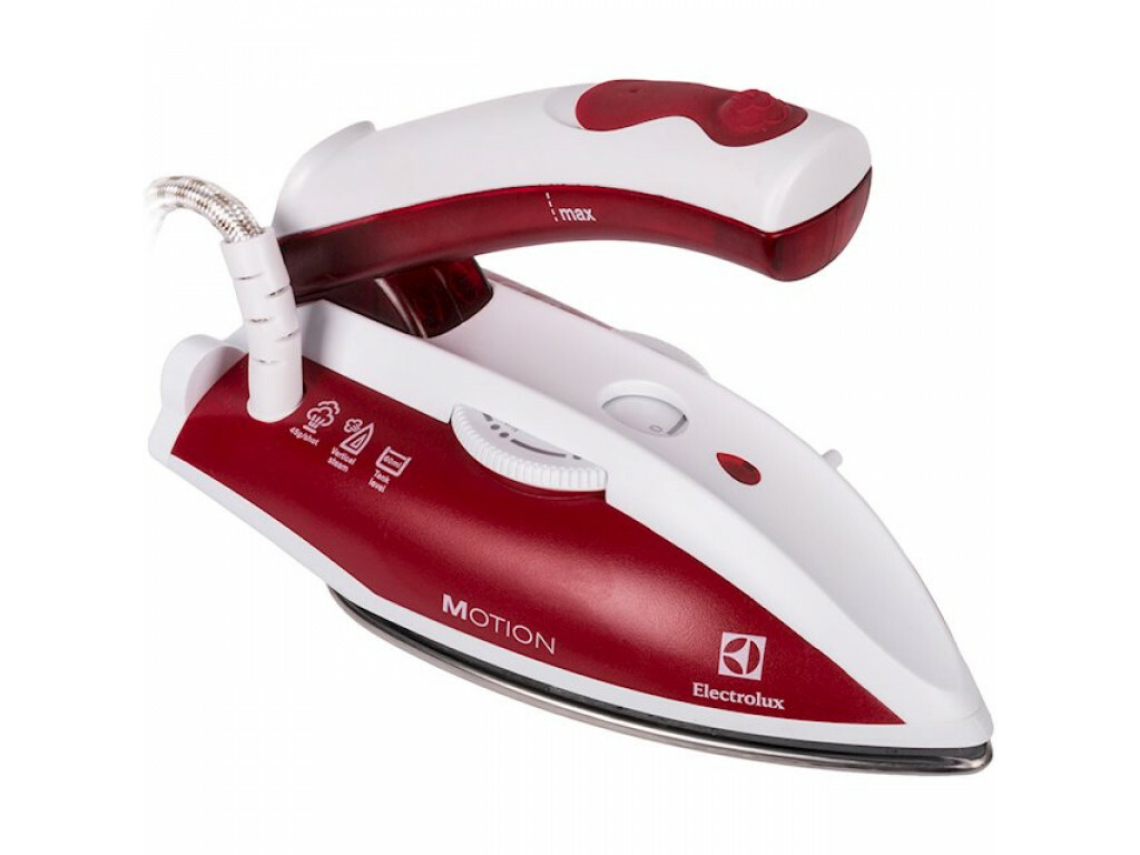 Iron Electrolux EDBT800 , travel, 800W, water tank capacity 0.06l, red