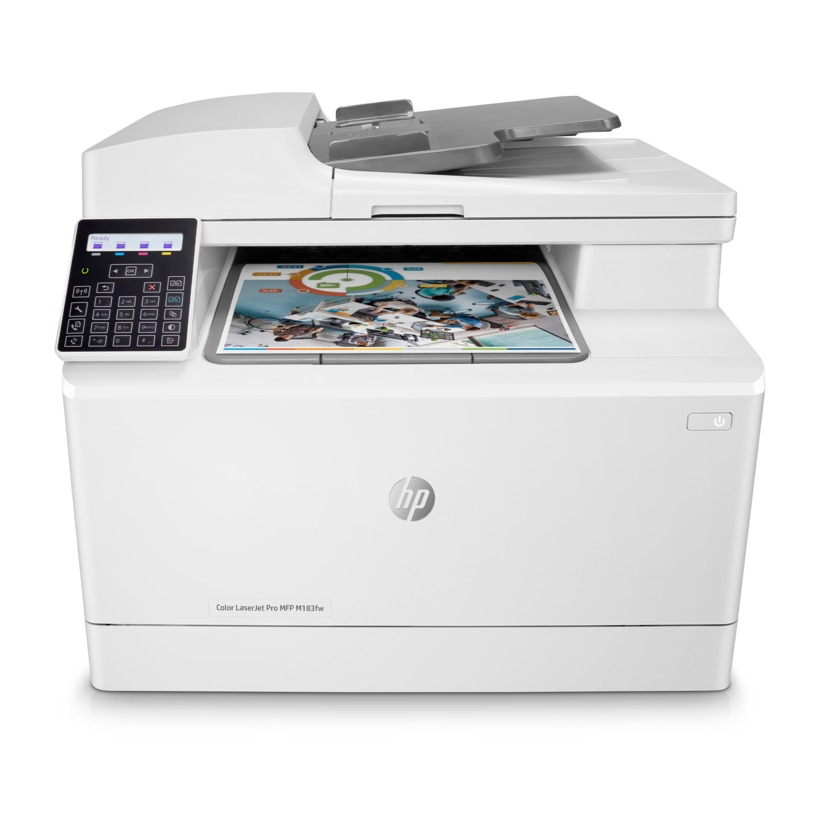 All-in-One Printer HP Color LaserJet Pro MFP M183fw, White,  A4, Fax,