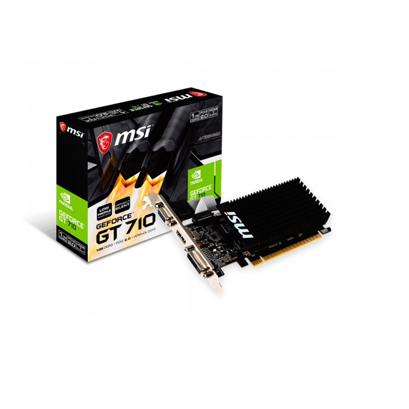 MSI GeForce GT 710 (GT 710 1GD3H LP) -  1GB GDDR3 64Bit 954-1600Mhz, D