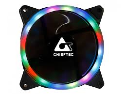 PC Case Fan Chieftec AF-12RGB, 120x120x25mm, 16dB, 53CFM, 1200RPM, Rai