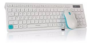 "MARVO ""DP0001WE"", Wireless Keyboard & Mouse Combo,  White-Blue"