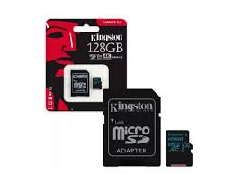 128GB MicroSD (Class 10) UHS-I (U1) +SD adapter, Kingston Canvas Selec