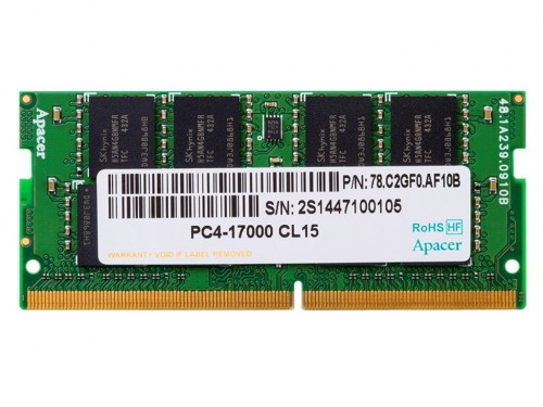 .4GB DDR4 - 2666MHz  SODIMM  Apacer PC21300, CL19, 260pin DIMM 1.2V