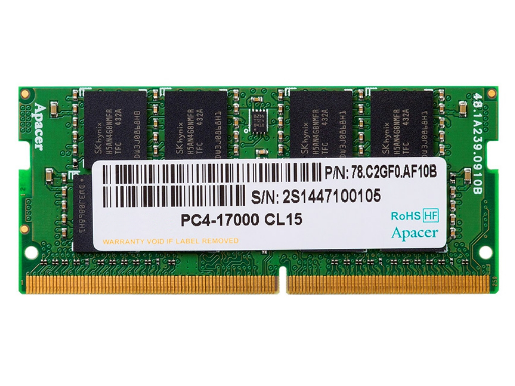 .8GB DDR4- 2666MHz  SODIMM  Apacer PC21300, CL19, 260pin DIMM 1.2V