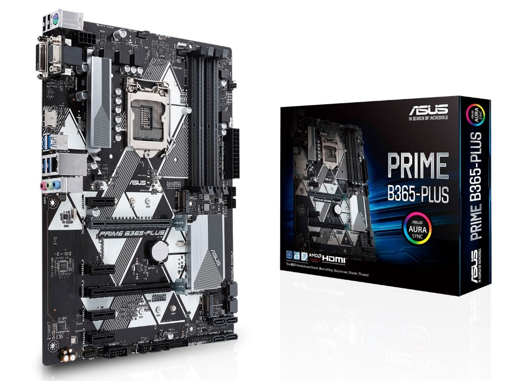 ASUS PRIME B365-PLUS, Socket 1151, Intel B365 (9th-8th Gen CPU), Dual