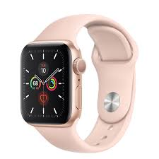 Apple Watch 5 40mm-Gold Aluminium Case With Pink Sand Sport Band, MWV7