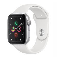 Apple Watch 5 40mm-Silver Aluminium Case With White Sport Band, MWV62
