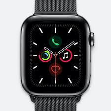 Apple Watch 5 44mm-Space Black Stainless Steal Case With Space Black M
